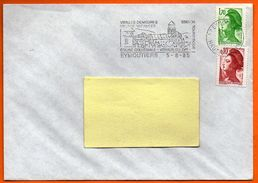 87 EYMOUTIERS    EGLISE COLLEGIALE  1985  Lettre Entière N° GG 271 - Marcophilie (Lettres)