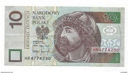 Billet Polonais Dziesciec Zlotych Narodowy Bank Polski - 1952-… : Elizabeth II
