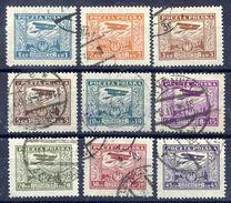 POLAND 1925 Airmail Set Used.  Michel 224-32 - 1919-1939 Republic