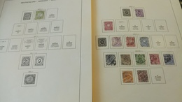 F343 GROS LOT FEUILLES SCHAUBEK REICH +BERLIN A TRIER BELLE COTE DÉPART 10€ - Collections (with Albums)