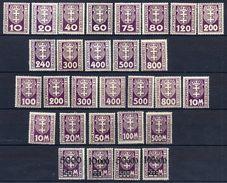 DANZIG 1921-23  Postage Due Issues  LHM / *.  Michel Porto 1-29 - Danzig