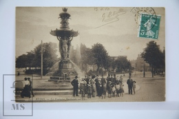 Old Postcard France - Reims - La Fontaine Bartholdi - Animated - Reims