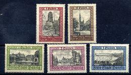 DANZIG 1924 Views Definitive Set Of 5. LHM / *.  Michel 207-11 - Dantzig