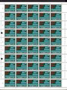 1970,    Recensement, Eich, Hamm, Hollerich Et Rollingergrand,  761 / 763**en Feuilles De 50, Cote 52,50 €, - Full Sheets
