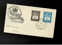 1958 Pakistan First Day Cover Human Rights Declaration - Pakistan