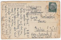 """""""2. Kriegshilfswerk Für Das Deutsche Rote Kreuz"""" Slogan Postmark On Berlin, KaDeWe Old Postcard Travelled 1941 B170915 - Briefe U. Dokumente"""