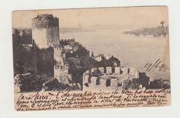 COSTANTINOPOLI -CASTELLO D'EUROPA - UNION POSTALE UNIVERSELLE -  VIAGGIATA 1905 - AFFRANCATA CON 20 PARA 20 - POSTCARD - Turchia