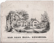 """1857 Auction Notice For """"Sale (Cheshire) Old Hall"""" Together With A Map.  Ref  0443 - Maps"""