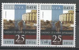 Lithuania 2016. Scott #1069 (U) Soviet Military Actions Against Lithuania, 25th Anniv. * - Lituanie