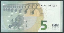 5 EURO GREECE  Y001 E4  DRAGHI  UNC - 5 Euro