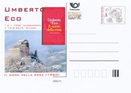 "Tschech. Rep. / Ganzsachen (Pre2016/08) Umberto Eco (1932-2016) Italienischer Schriftsteller; ""Der Name Der Rose"" (1980) - Klöster"