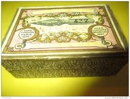 Boite De Plumes Métalliques/Baignol& Farjon /Bronze /avec35 Plumes/N°737/Plumes Velleda/Vers1920-1940  CAH101 - Plumes