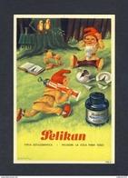 Buvard PELIKAN Num.1920 R. Encre, Gnomes (Ref. 99696) - Buvards, Protège-cahiers Illustrés