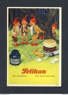 Buvard PELIKAN Num.1922 R. Encre, Gnomes (Ref. 99696) - Buvards, Protège-cahiers Illustrés