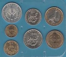 DJIBOUTI COIN SET 7 MONNAIES 1991 - 2013 UNC SOUS PLASTIQUE - Djibouti