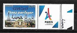 France 2017 - Paris - Ville Candidate Aux JO 2024 ( Surcharge LIMA )  ** - France