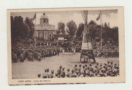 ADDIS ABEBA - FESTA DEL MASCAL - AFRICA ORIENTALE VIAGGIATA 1937 - POSTCARD - Etiopia