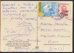 °°° 7997 - PHILIPPINES - CORREGIDOR THE ROCK - 1973 With Stamps °°° - Filippine