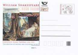 """Tschech. Rep. / Ganzsachen (Pre2016/10) William Shakespeare (1564-1616); L. Alma-Tadema: """"Antonius Und Kleopatra"""" - Sprachen"""