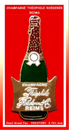 SUPER PIN'S CHAMPAGNE : RARE PIN'S CHAMPAGNE THEOPHILE ROEDERER (REIMS) émail Grand Feu Base Or PIN'STORY 3,7X1,6cm - Boissons