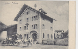 Andeer - Posthaus Mit Postkutsche - Feldpoststempel     (P-81-20331) - GR Grisons