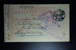 Russia  POW  Postcard Chabaroosk 1916 To Ungarn Cencor Cancels - Briefe U. Dokumente