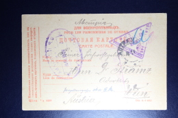 Russia POW Postcard  1916 To Vienna - 1857-1916 Empire