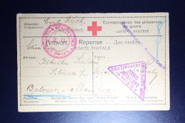 Russia POW  Postcard Pavlodar ( Kazachstan ) 1916  Vienna To Praag Censor Cancel - Briefe U. Dokumente