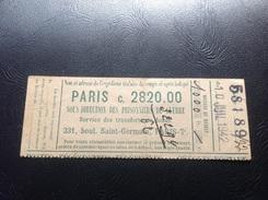 Reçu Postes Telegraphes PARIS 10 Juillet 1942 Mandat 1000fr.  Brandstein Adolphe Prisonnier Au Stalag XB (Sandbostel) - Marcophilie (Lettres)