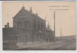 Saint Medard  La Gare  Animée Circulé En 1910 - Herbeumont