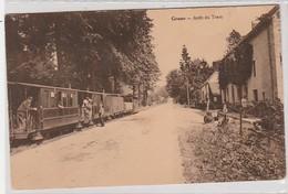 Grune Rare  Arret Du Tram Bien Animée Ciculé En 1927 - Nassogne