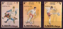 AJMAN - 1972 - Coup Du Mond - Munchen'74 - 3** - Coppa Del Mondo