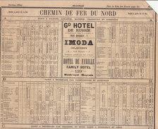 1878,  Lignes Des Chemins De Fer Du Nord  (voir 4 Scans, Lire Description) - Historische Dokumente