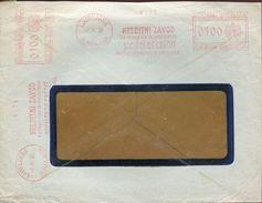 25821 Jugoslavia, Red Meter/freistempel/ema/ Ljubliana 1938 Kreditni Zavod Societe De Credit,  Circuled Cover - 1931-1941 Kingdom Of Yugoslavia