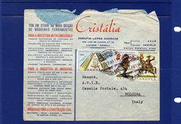 ##(003)POSTAL HISTORY  - Angola -1966 -   Cover To Bologna  -  Italy - Angola