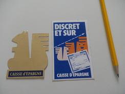 Autocollant - Banque CAISSE D'EPARGNE - Autocollants
