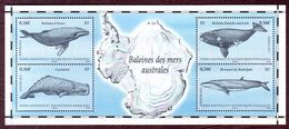 T.A.A.F. -  2011 -  BF N° 25 - Baleines Des Mers Australes - Neuf ** - Blocs-feuillets