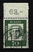 BUND Mi-Nr. 358 Randstück Oben - Ludwig Van Beethoven Gestempelt - BRD