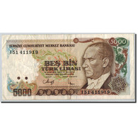 Turquie, 5000 Lira, 1970, UNdated (1970), KM:198, TTB - Turchia