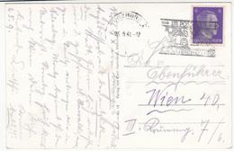 Postauto Frankenland Slogan Postmark On Würzburg Old Postcard Travelled 1941 B170915 - Alemania