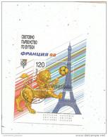 Timbre , Bloc  , Football , BULGARIA , Coupe Du Monde 98 , FRANCE , Tour Eiffel - World Cup