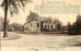 Cpa LEOGNAN 33 Château D' OLIVIER Restauré Après Un Incendie Survenu En 1887 - Otros Municipios