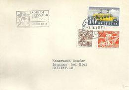 "Sonderstempel  ""Isole Di Brissago - Apertura""             1950 - Affrancature Meccaniche"