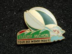 PIN'S FLEURY MICHON TOUR DU MONDE A LA VOILE - NOV 92 - Sailing, Yachting