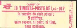 FRANCE - SABINE  - CODE POSTAL - Carnets