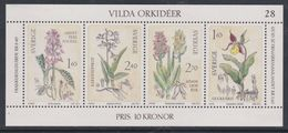 Suède Bloc- Feuillet N° 10 XX : Orchidées Sauvages, Le Bloc Sans Charnière, TB - Hojas Bloque
