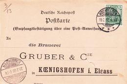 CP Affr Michel 85 Obl HOCHFELDEN / * * * Du 19.2.02 Adressée à Strasbourg - Postmark Collection (Covers)