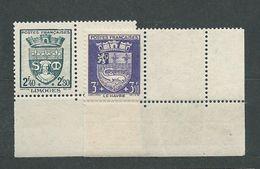 FRANCE      N°  560/61 **  TB   Gomme D'origine - Unused Stamps