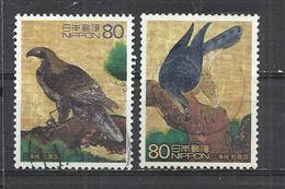 JAPAN 2002 - WORLD HERITAGE - BIRDS - CPL. SET - USED OBLITERE GESTEMPELT USADO - Birds