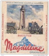 - BUVARD- Biscottes Magdeleine Fermanville Le Phare - Petite Déchirure - GRANVILLE - Food
